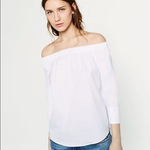 Zara White off the shoulder top